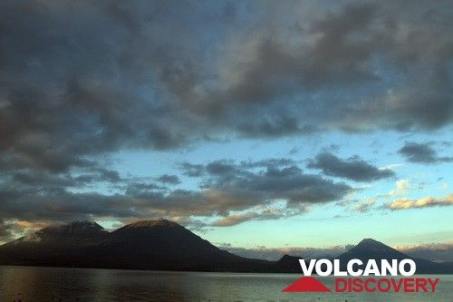 Lake Atitlan with Toliman, Atitlan and San Pedro volcanoes (Guatemala) (Photo: Yashmin Chebli)