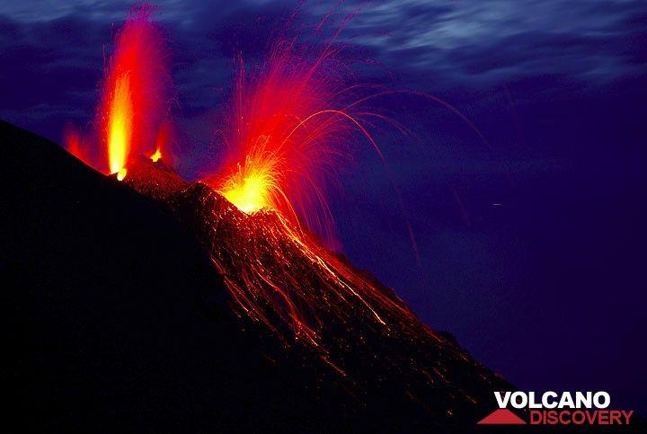 Strombolian Eruption Strombolian Eruption From