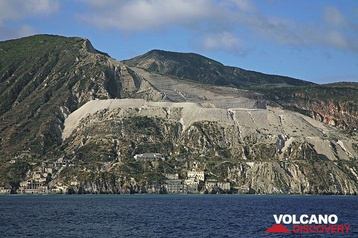 The large pumice quarries at Lipari (c)