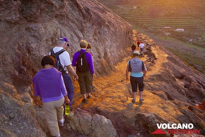 Descending from Vulcano in the evening, Eolian Islands, Italy (Photo: Tom Pfeiffer)