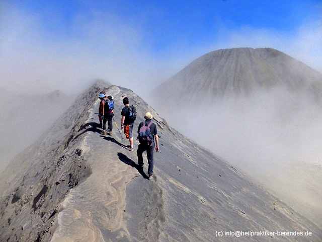 Our group on the rim of Bromo volcano in East Java (Photo: Dietmar)