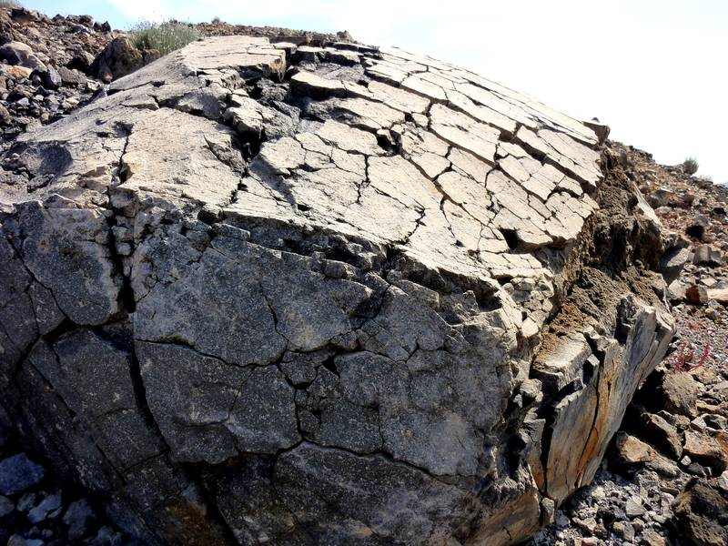 Massive breadcrust bomb on Nea Kameni island, Santorini archipelago, Greece (Photo: Janka)