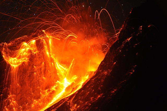 Strombolian Eruption Strombolian Eruption From Batu