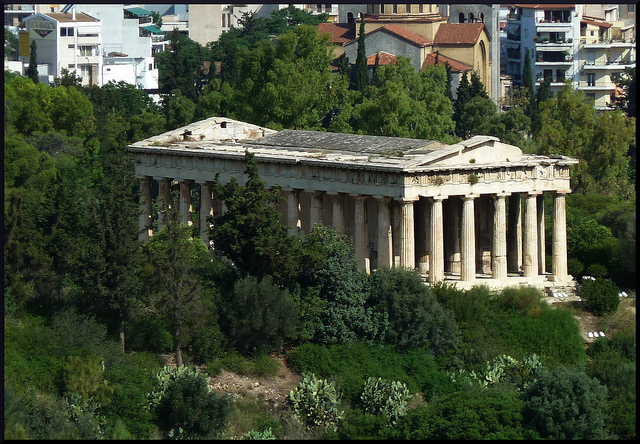Der Tempel von Ephaistos in Athen, Hommage an den Gott der Vulkane. (Photo: Nathalie Livingstone)