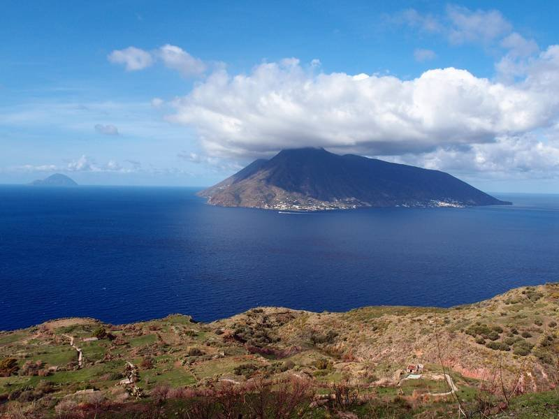 Salina being shaded by a mighty cloud, Aeolian Islands, Italy (Photo: Janka)