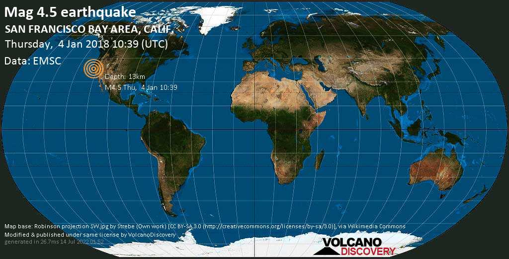 4 5 earthquake san francisco bay area calif on thursday
