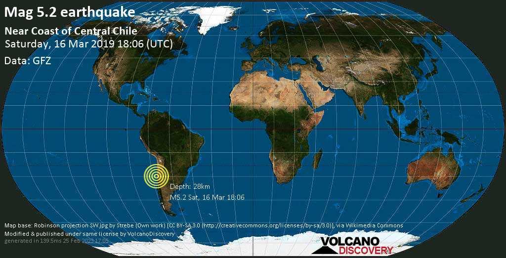 Earthquake Info M5 2 Earthquake On Sat 16 Mar 18 06 15 Utc Near