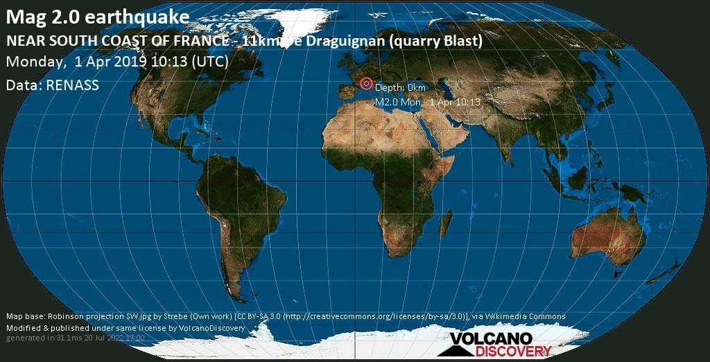 Map South Of France Coast.Earthquake Info M2 0 Earthquake On Mon 1 Apr 10 13 31 Utc Near