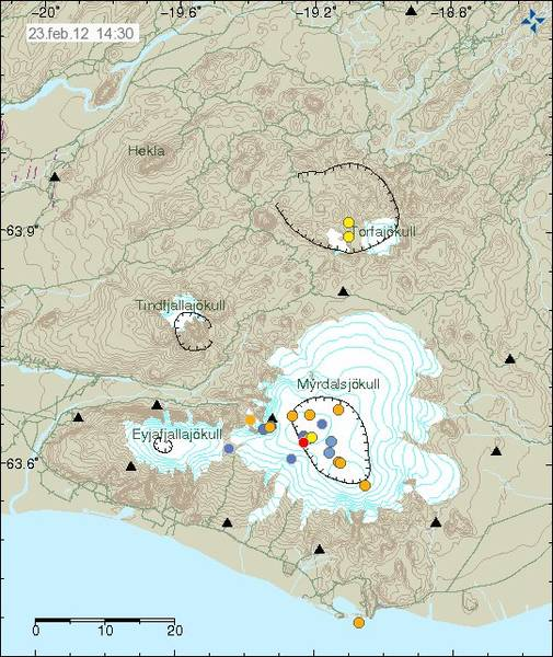 The recent earthquakes under Katla