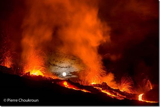 Piton de la Fournaise eruption 4 Feb 2015 (photo: Piere Choukroun)