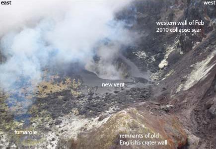 soufrière hills volcano montserrat new vent observed