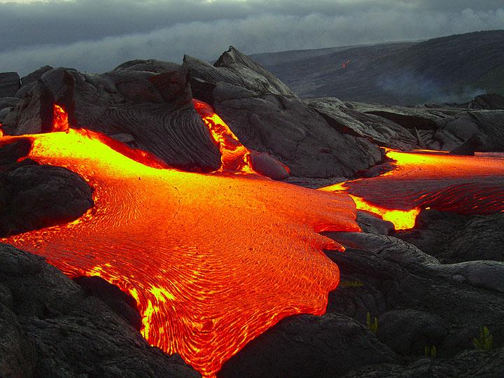 Lava flows on Hawaii - new photos from Nov 06-April 07
