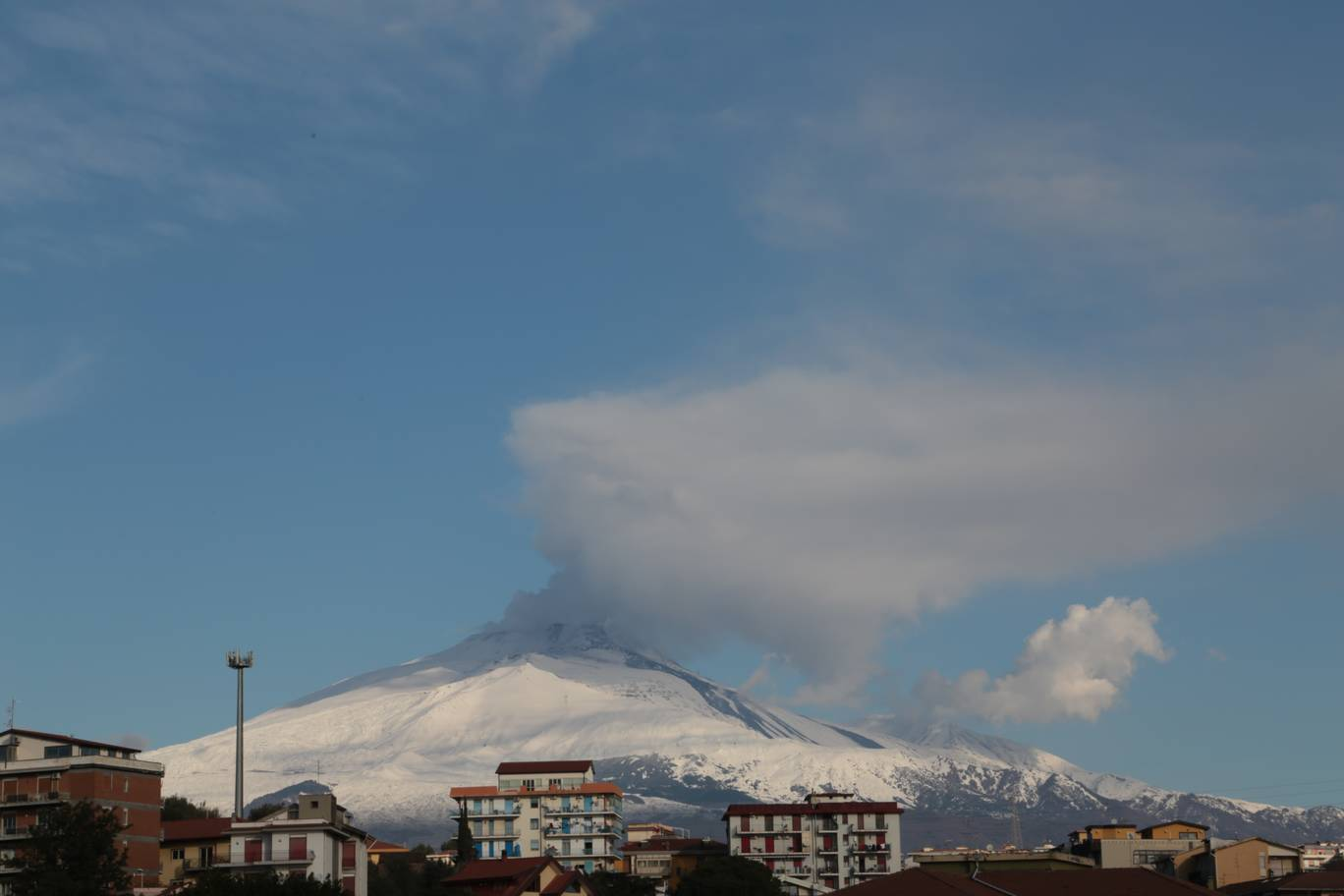 view of Etna this morning from Catania