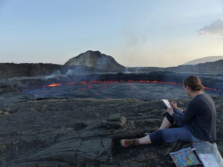 The high level of Erta Ale´s lava lake 21 November 2015