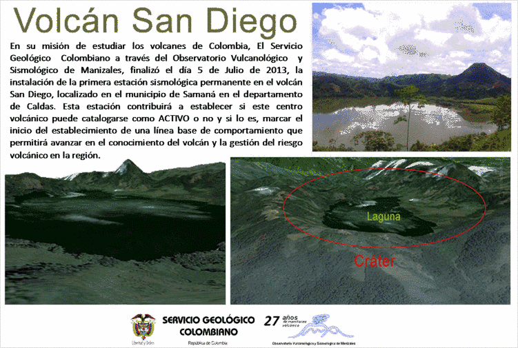 INGEOMINAS press release about the new monitoring station for San Diego