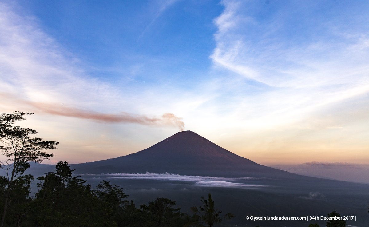 Agung Volcano Bali Indonesia Activity Update New Lava Dome