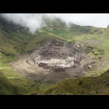 Awu's 2004 lava dome (image: PVMBG)