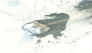 Ash emissions from Bristol island on 19 July 2016 (image: Terra/MODIS/NASA via South Sandwich Islands Volcano Monitoring Blog)