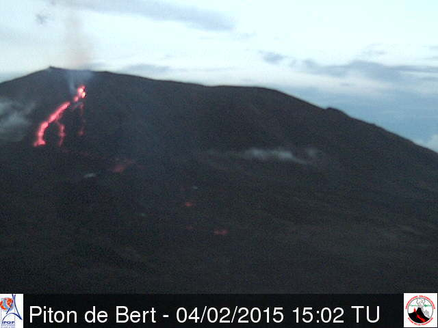 View of the eruption (OVPF webcam)