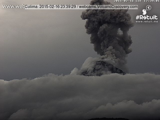 Explosion at Colima yesterday evening