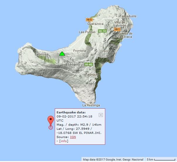 El Hierro volcano Canary Islands magnitude 29 earthquake
