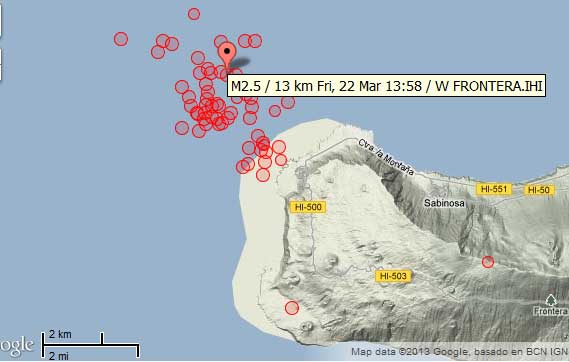 Volcanic activity worldwide 22 Mar 2013: earthquake swarms ...