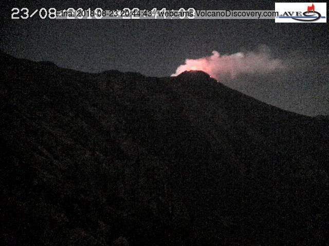 Strombolian activity from Etna's SE crater last night (LAVE webcam)