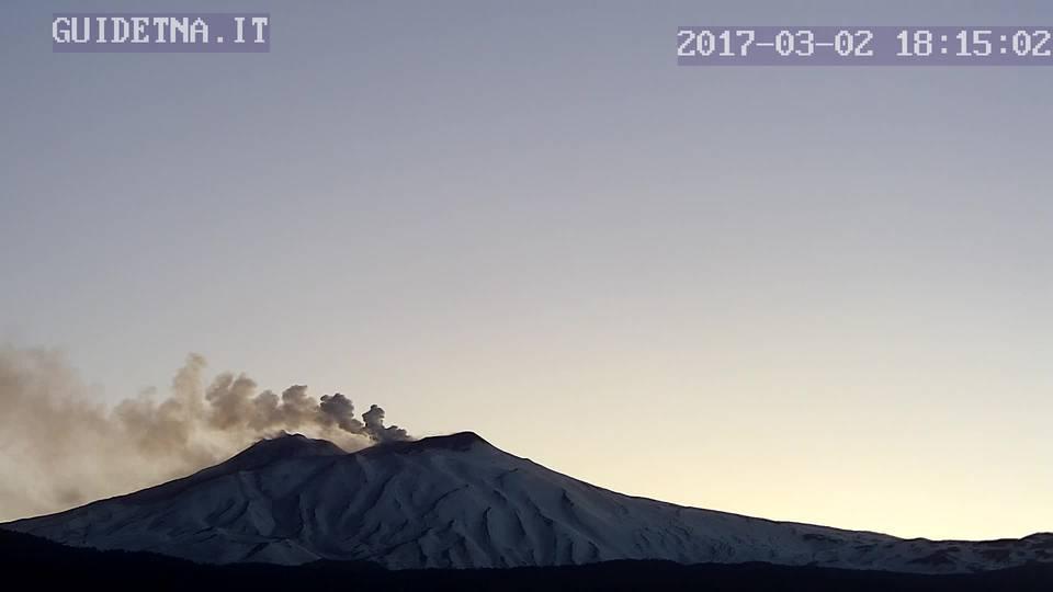 Etna Volcano Update Eruption Ends At Se Crater Ash Emissions From