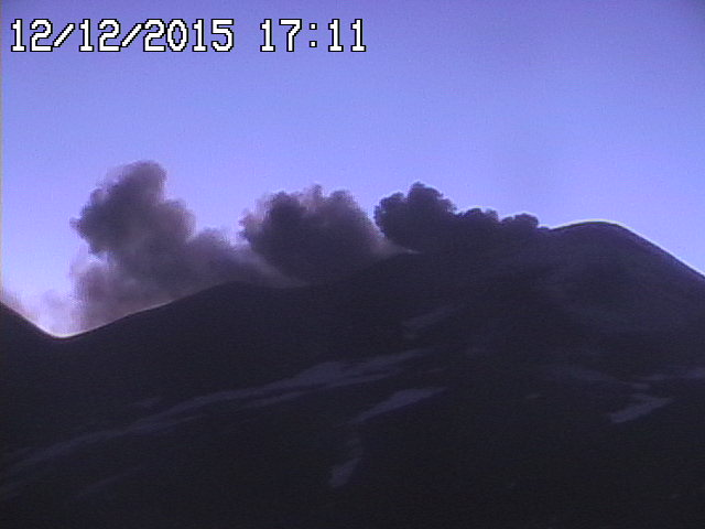 Ash emissions from Etna's NE crater