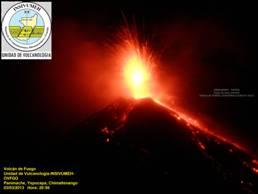 Fuego volcano eruption on March 4, 2013 (photo: INSIVUMEH)