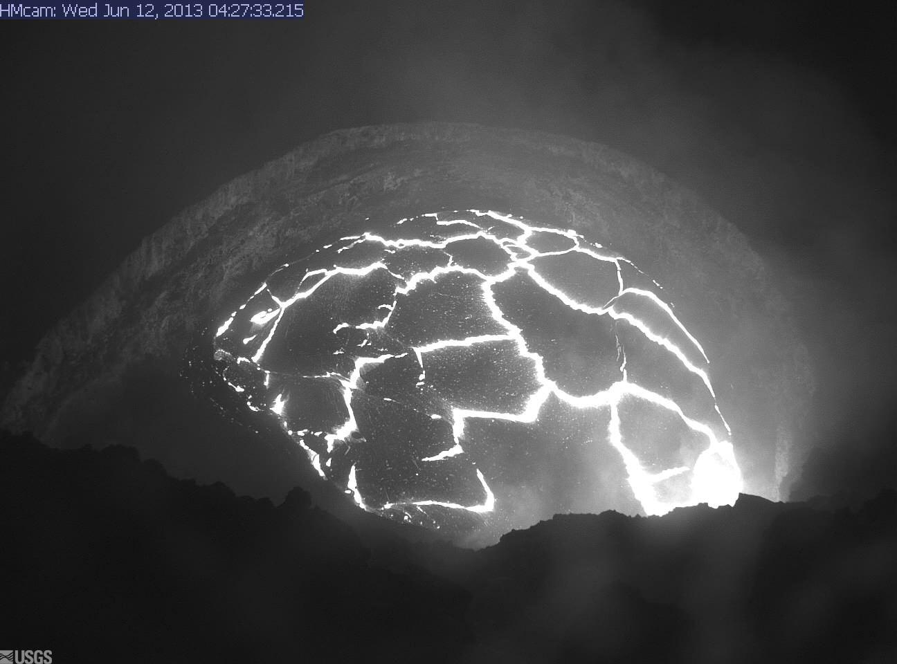 Halema'uma'u lava lake today (HVO webcam)