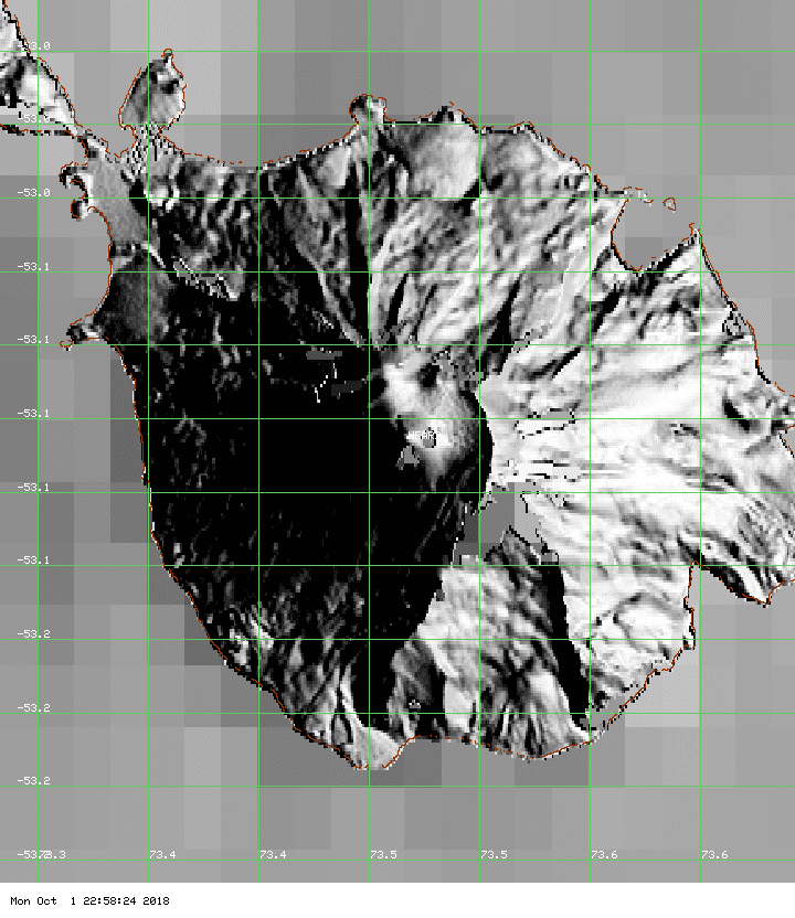 No thermal signals from Heard volcano during the past 7 days (image: MODIS / Univ. Hawaii)