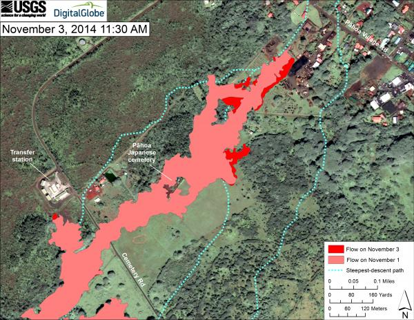 Hawaii Map Lava.Kilauea Volcano Update Lava Flow Continues To Inflate Minor