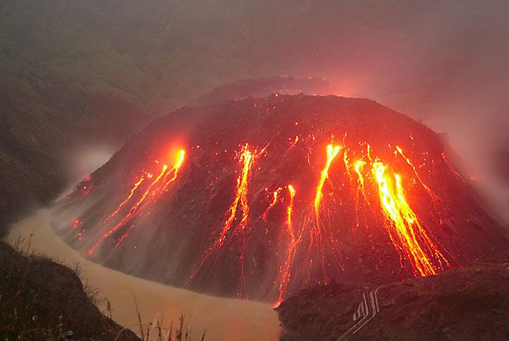 The new lava dome of Kelut volcano in Nov 2007