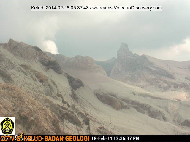 Steaming from Kelut this morning (new VSI webcam)