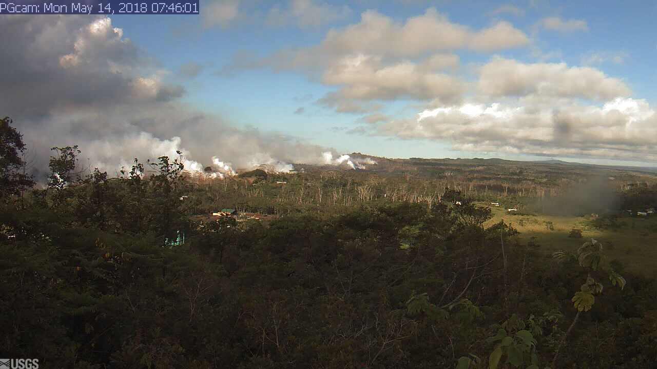 Current webcam image of the Lower RIft Zone at Kilauea (image: HVO / USGS)