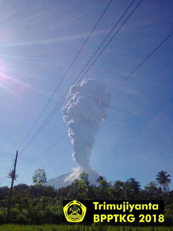 This morning's explosion at Merapi