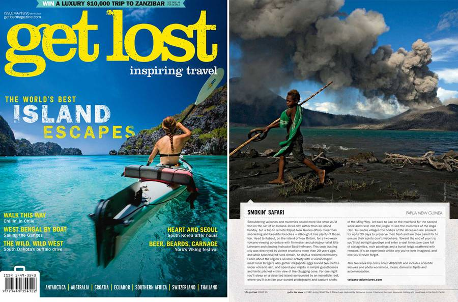 Cover and article about Papua Expedition in current get lost magazine