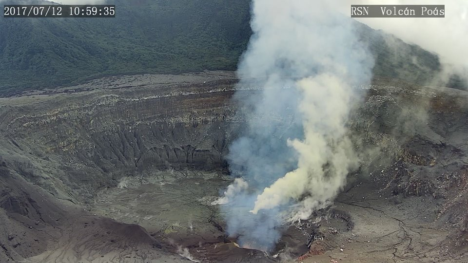 Image Of Poas Crater On 12 July 2017 With Several Vents And No More Lake