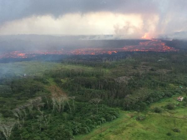 Lava flow from fissure #8 afternoon 30 May (image: HVO / USGS)