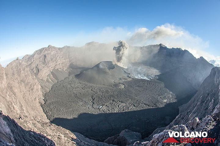 Raung's summit caldera on 14 Aug 2015