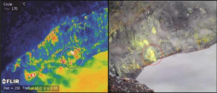 Thermal image fumarolic field (RSN)