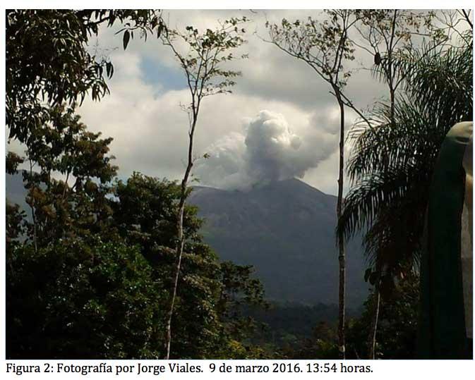 Last Wednesday's eruption at Rincón de la Vieja volcano (OVSICORI-UNA)