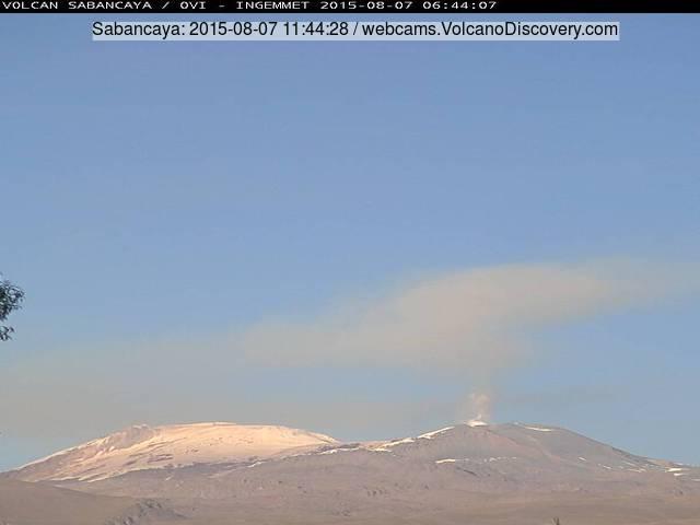 Ash plume from Sabancaya volcano yesterday