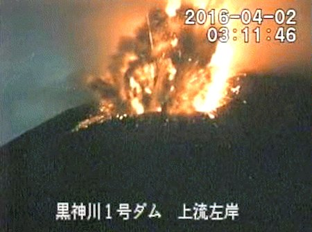 Strong explosion at Sakurajima on 2 April
