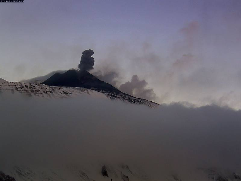 Strombolian explosion from Etna's New SE crater