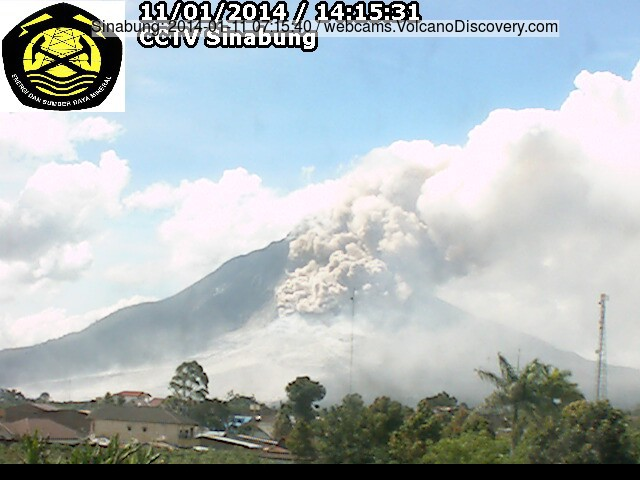 Pyroclastic flow at Sinabung this morning