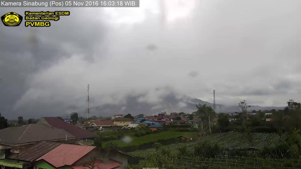 Sinabung volcano this morning