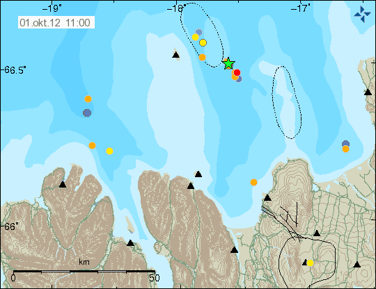The swarm at the Tjornes Fracture Zone