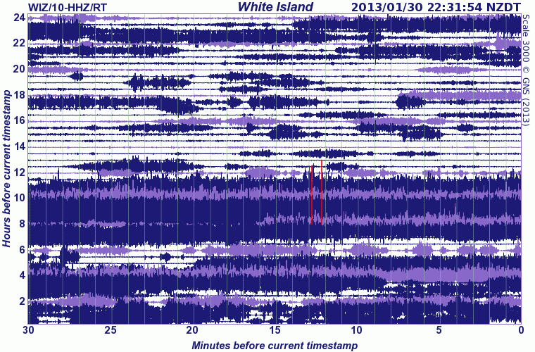 Current seismic signal from White Island (GeoNet)